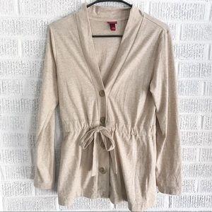 Sweaters - Merona Tan Tie Front Cardigan Sz XS